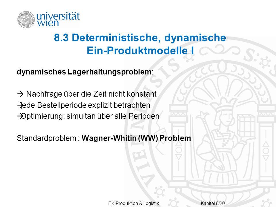 8.3 Deterministische, dynamische Ein-Produktmodelle I