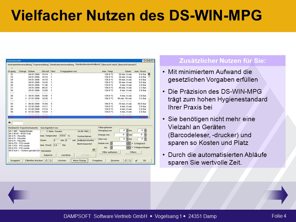 Vielfacher Nutzen des DS-WIN-MPG
