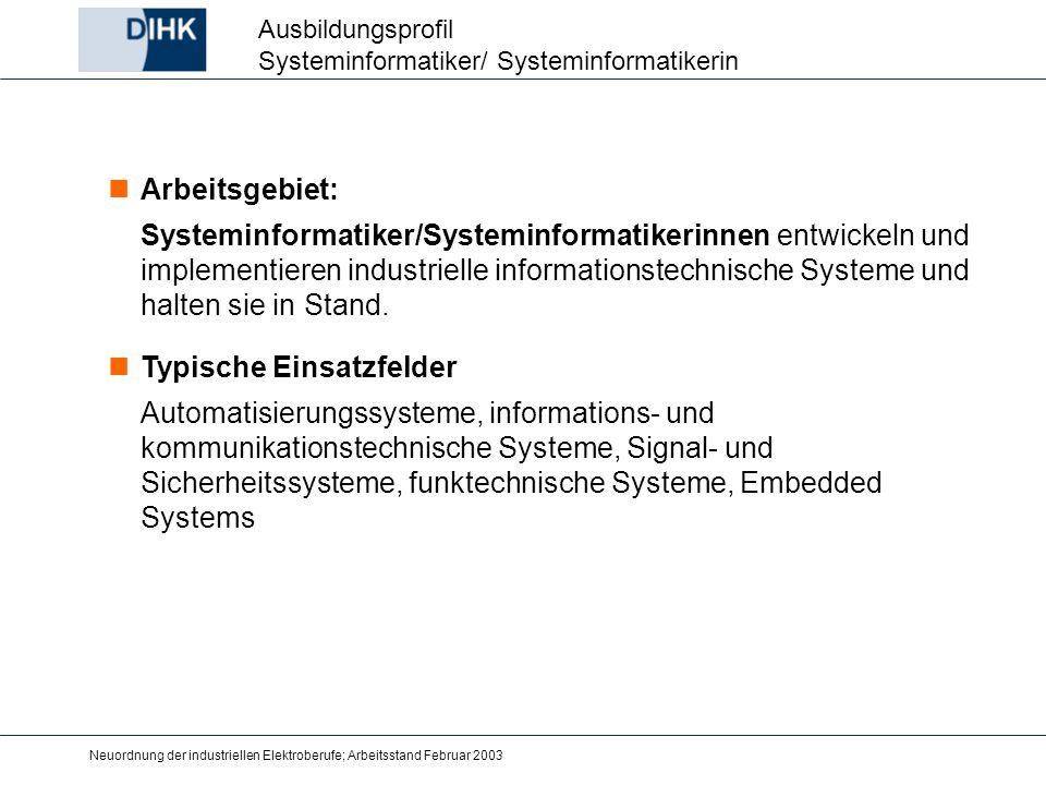 Ausbildungsprofil Systeminformatiker/ Systeminformatikerin