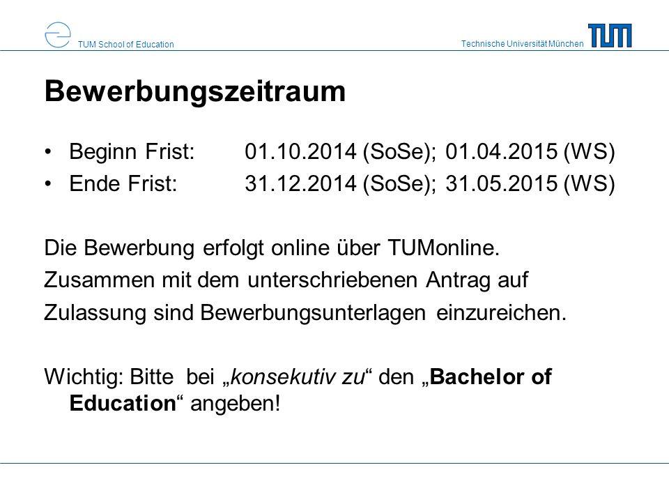 Bewerbungszeitraum Beginn Frist: 01.10.2014 (SoSe); 01.04.2015 (WS)