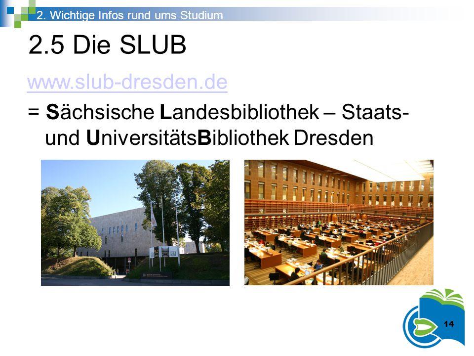 2.5 Die SLUB www.slub-dresden.de