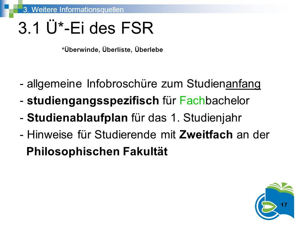 3.1 Ü*-Ei des FSR - allgemeine Infobroschüre zum Studienanfang