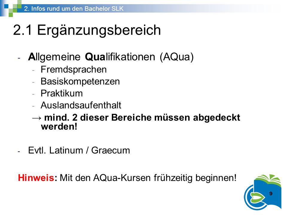 2.1 Ergänzungsbereich Allgemeine Qualifikationen (AQua) Fremdsprachen