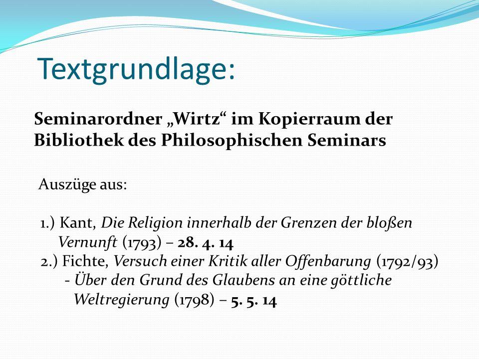 """Textgrundlage: Seminarordner """"Wirtz im Kopierraum der"""