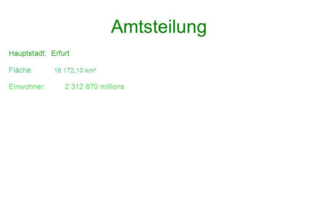 Amtsteilung Hauptstadt: Erfurt Fläche: 16 172,10 km²