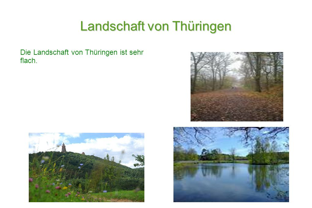 Landschaft von Thüringen