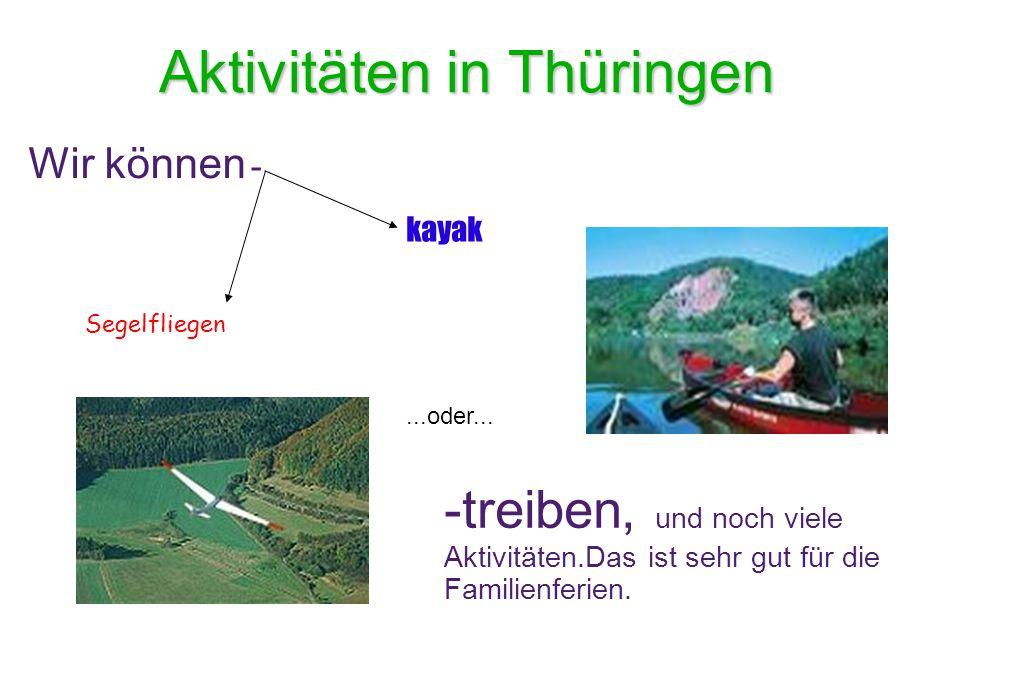 Aktivitäten in Thüringen