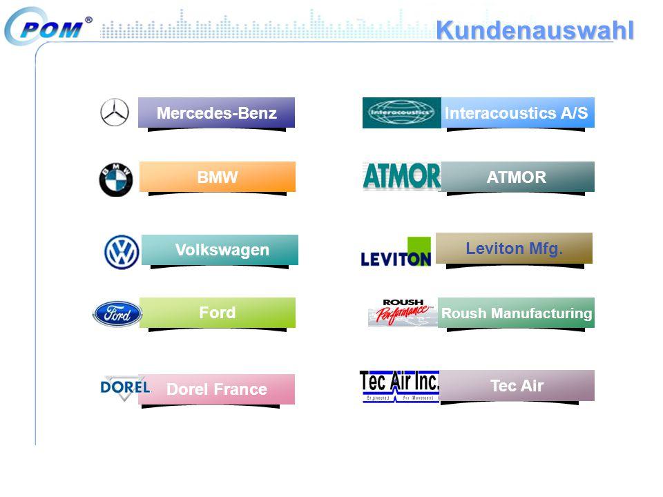 Kundenauswahl Mercedes-Benz Interacoustics A/S BMW ATMOR Volkswagen