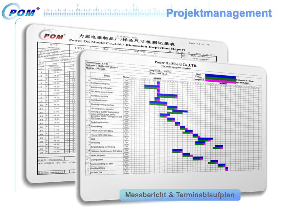 Messbericht & Terminablaufplan
