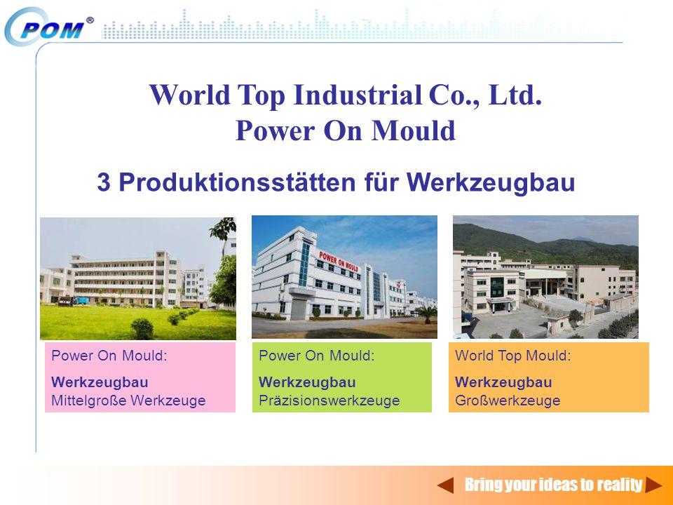World Top Industrial Co., Ltd. 3 Produktionsstätten für Werkzeugbau