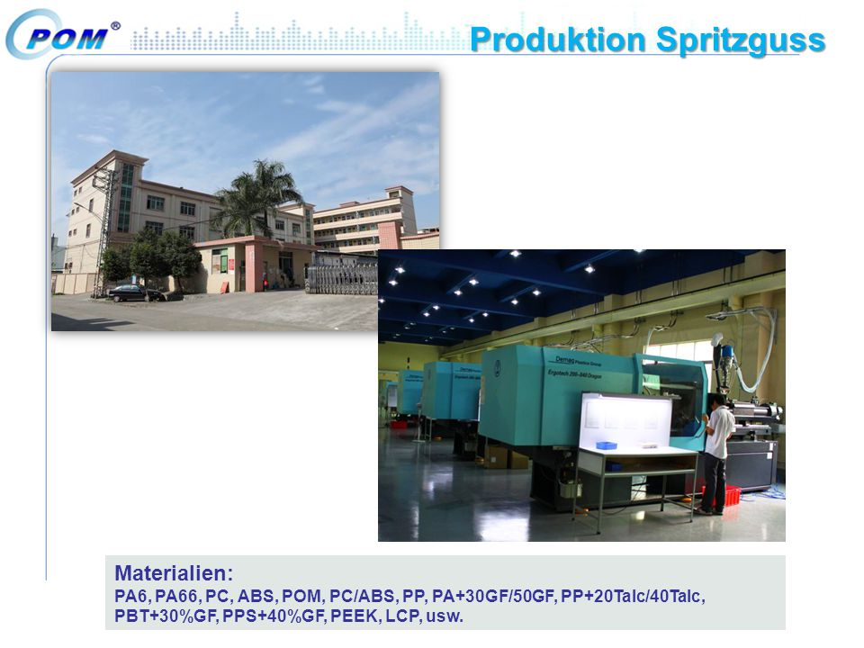 Produktion Spritzguss