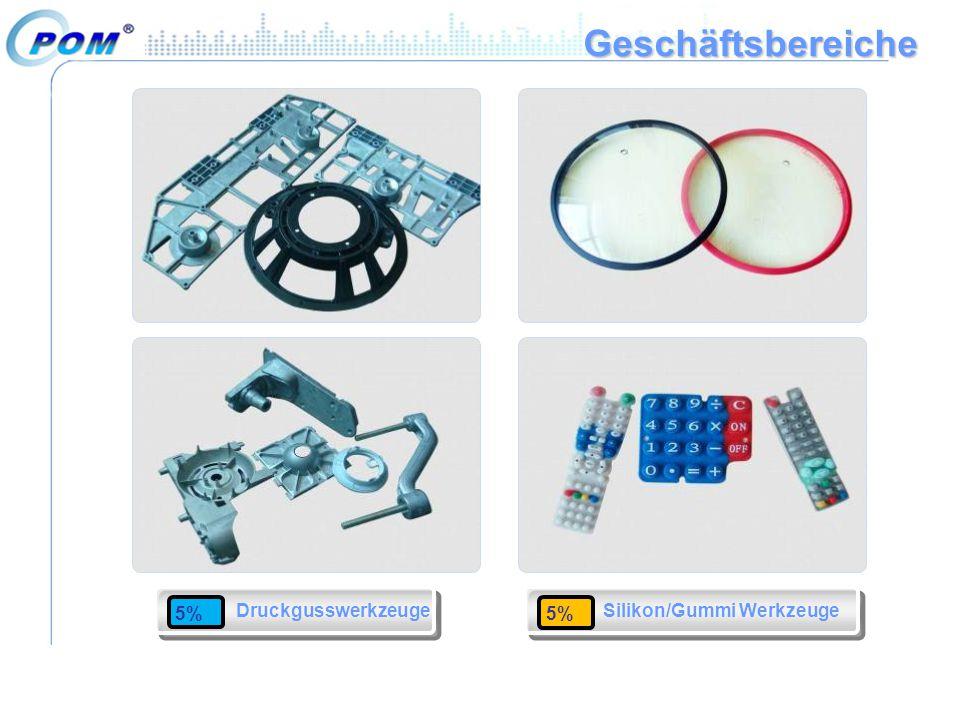 Geschäftsbereiche Druckgusswerkzeuge 5% 5% Silikon/Gummi Werkzeuge