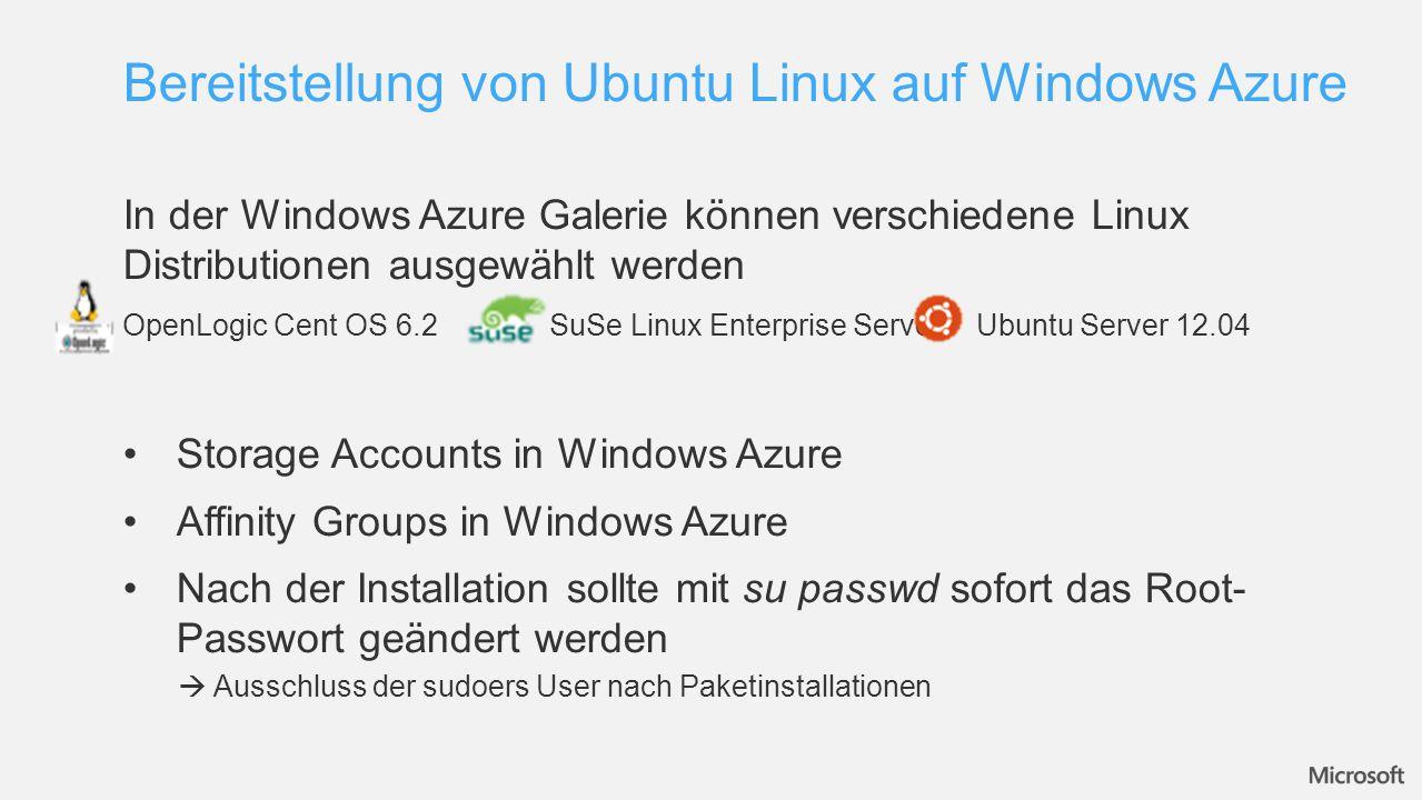 Bereitstellung von Ubuntu Linux auf Windows Azure