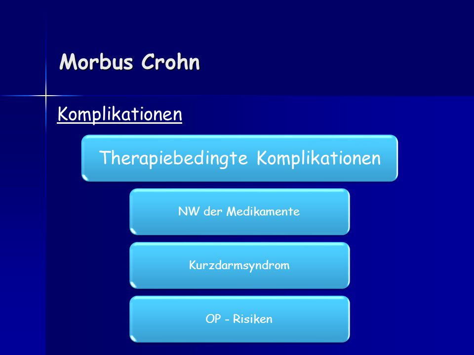 Therapiebedingte Komplikationen