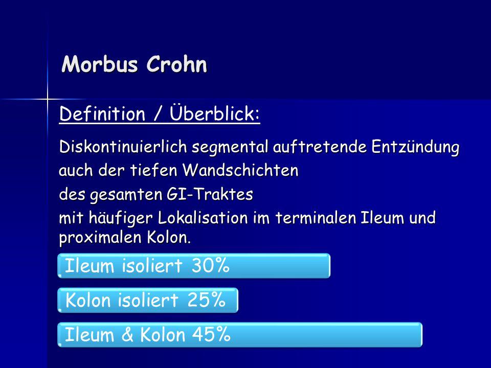 Morbus Crohn Definition / Überblick: Ileum isoliert 30%