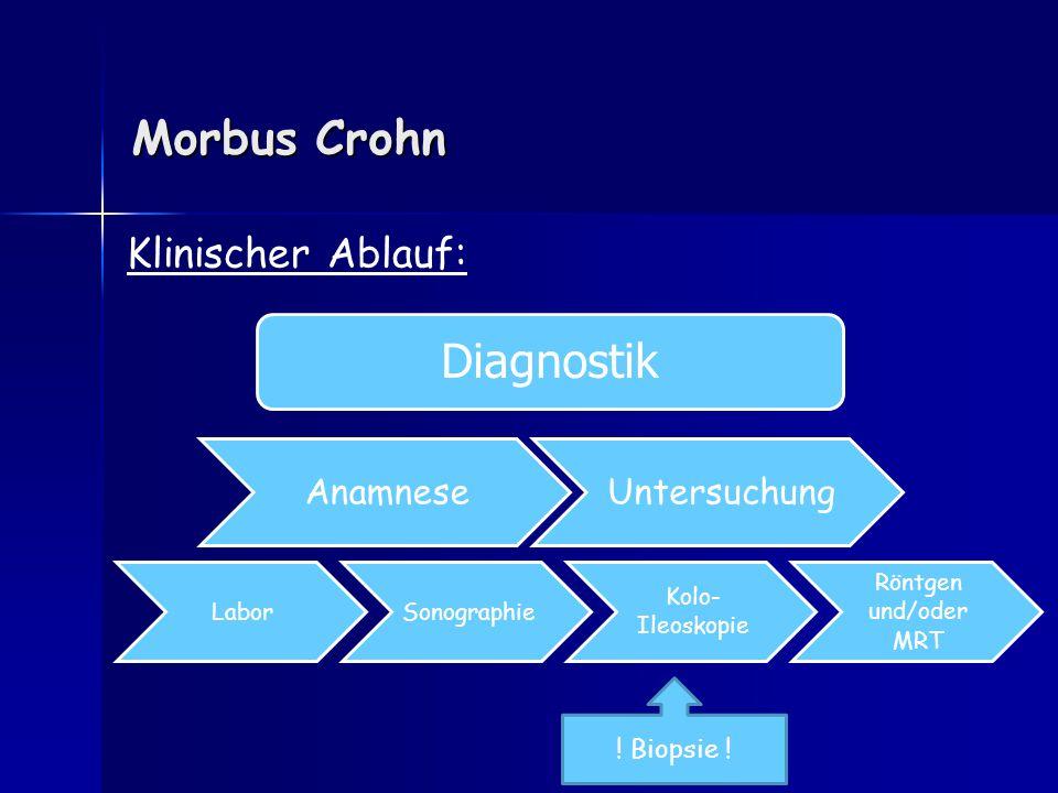 Morbus Crohn Diagnostik Klinischer Ablauf: Untersuchung Anamnese