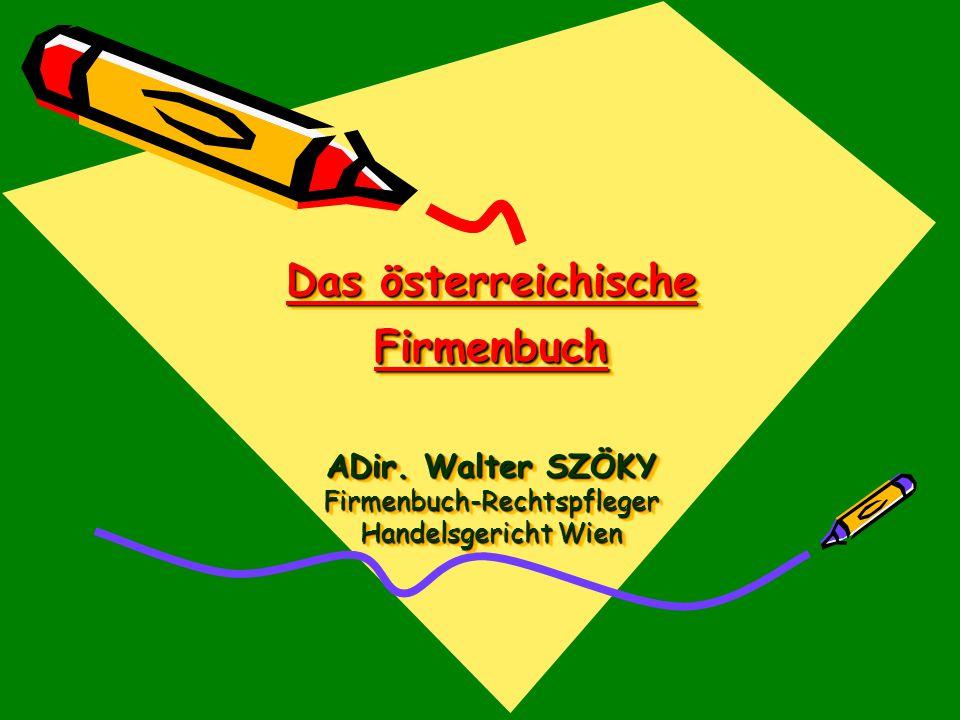 Das österreichische Firmenbuch ADir