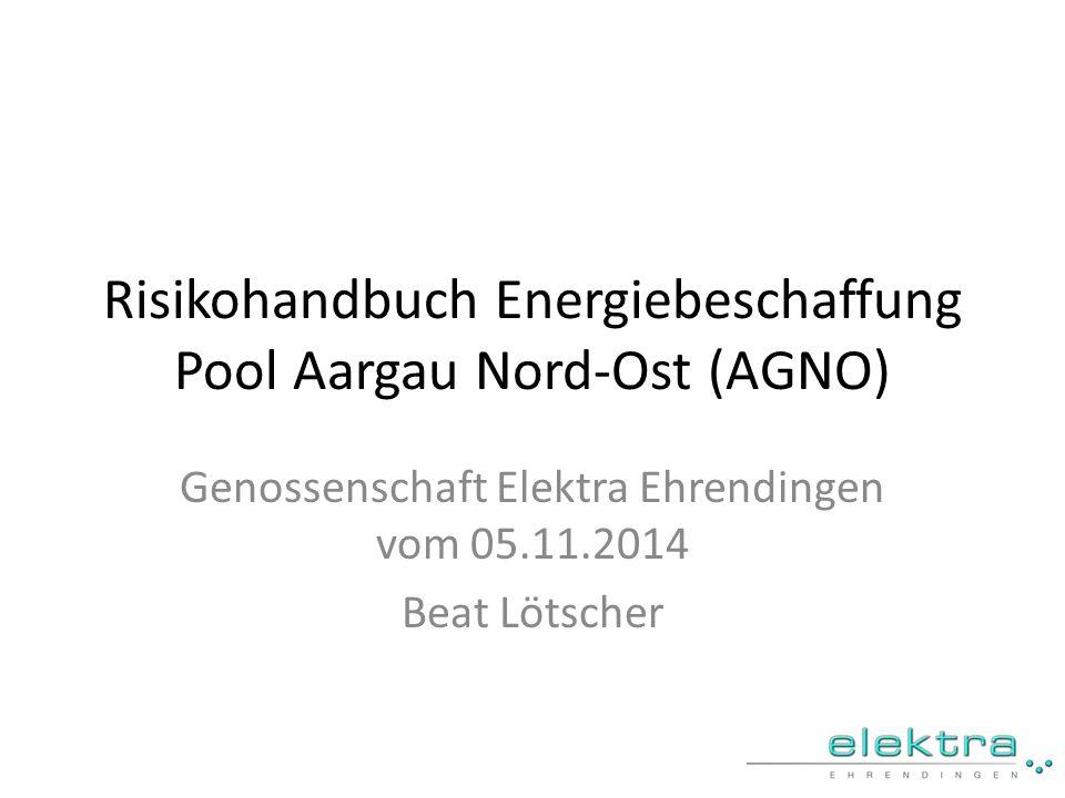 Risikohandbuch Energiebeschaffung Pool Aargau Nord-Ost (AGNO)