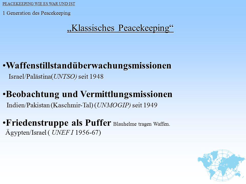 """""""Klassisches Peacekeeping"""
