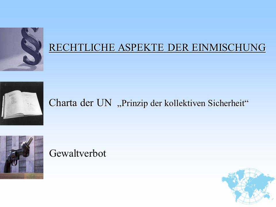 """Charta der UN """"Prinzip der kollektiven Sicherheit"""