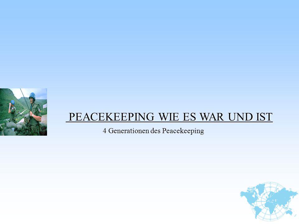 PEACEKEEPING WIE ES WAR UND IST