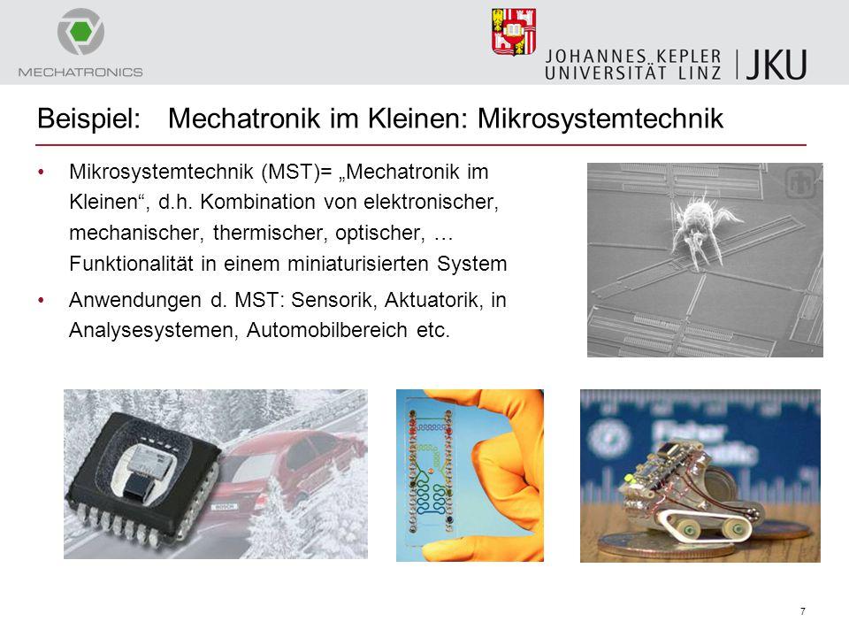Beispiel: Mechatronik im Kleinen: Mikrosystemtechnik