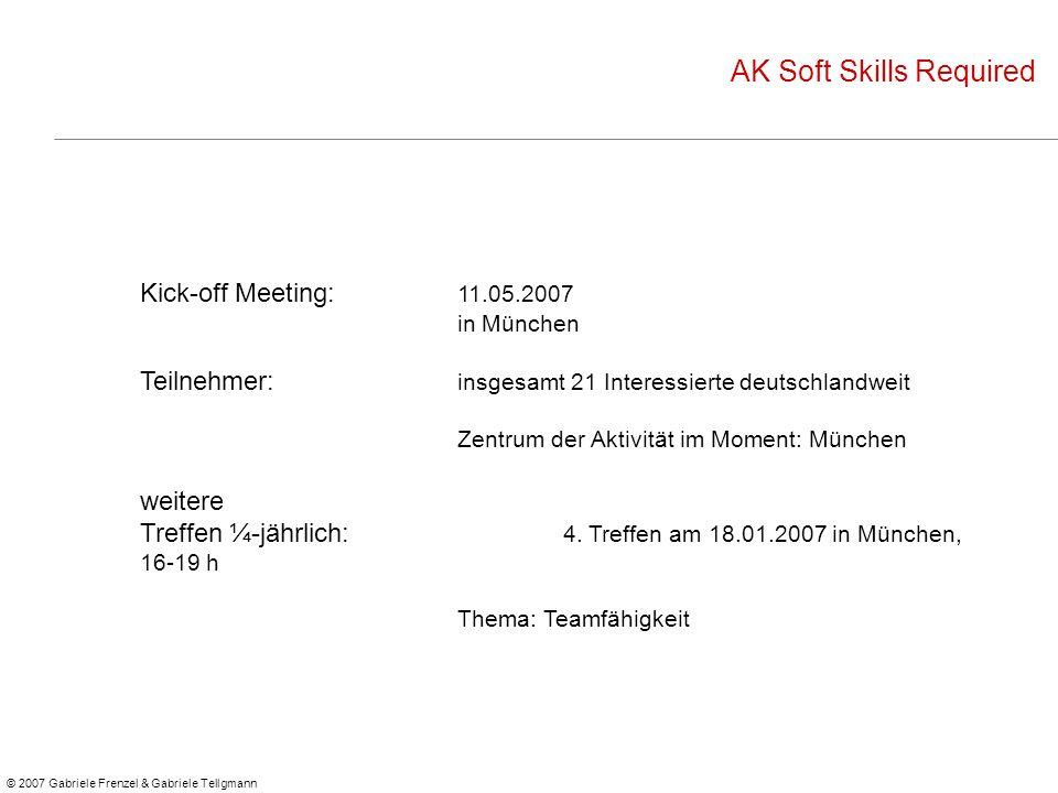 Teilnehmer: insgesamt 21 Interessierte deutschlandweit