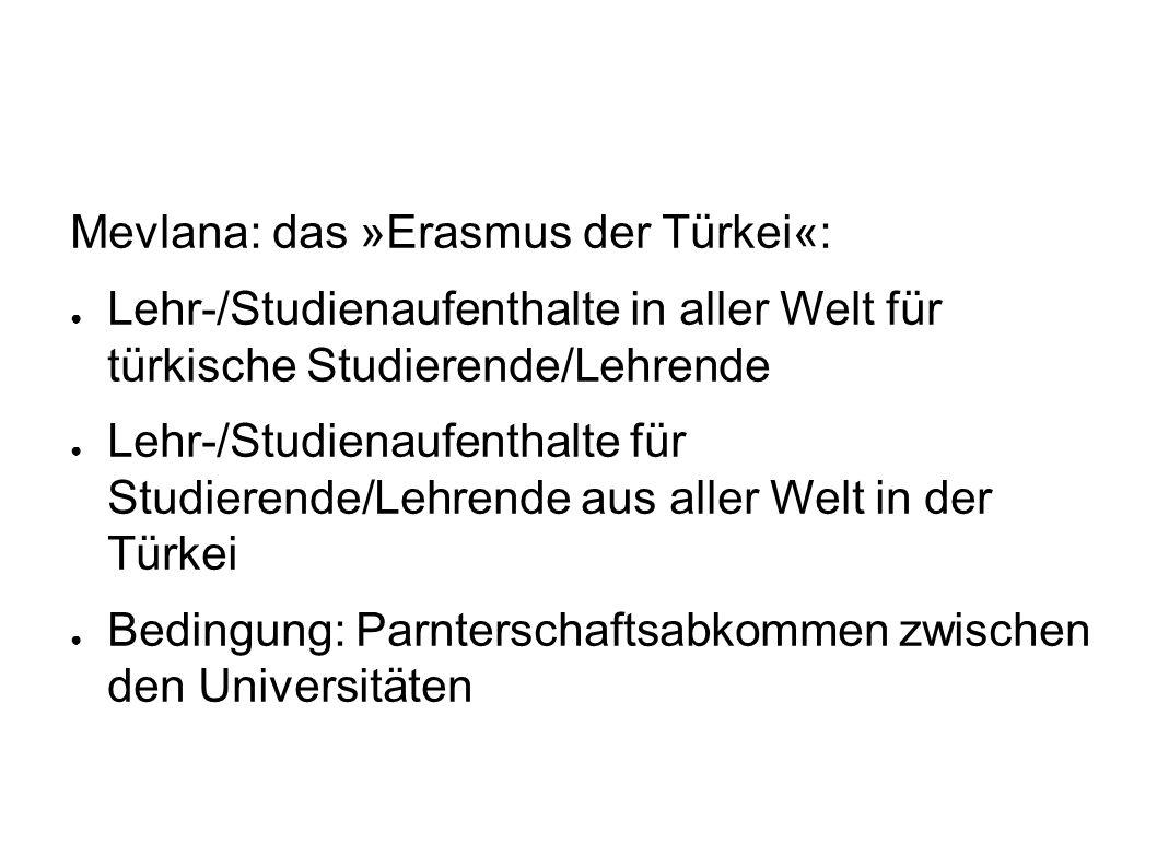 Mevlana: das »Erasmus der Türkei«:
