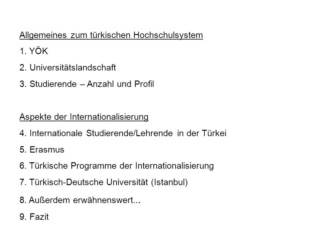Allgemeines zum türkischen Hochschulsystem