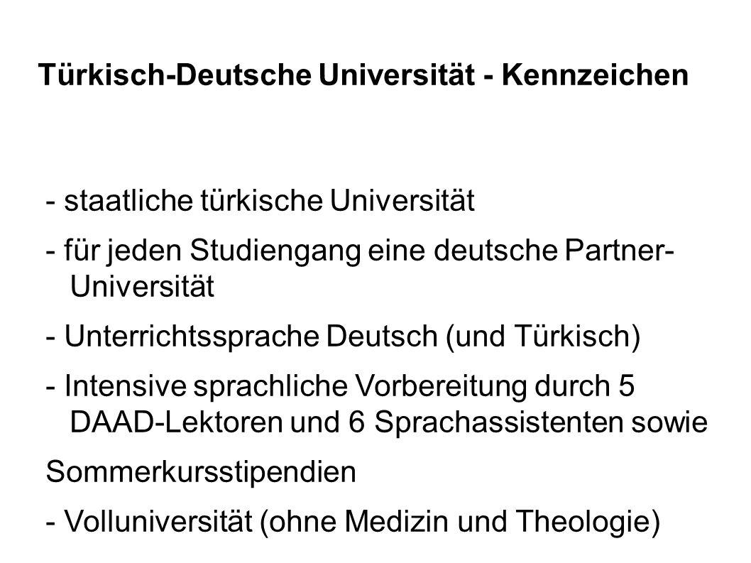 Türkisch-Deutsche Universität - Kennzeichen