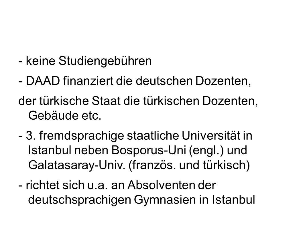 - keine Studiengebühren
