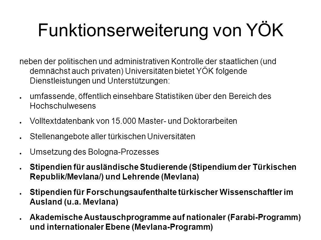 Funktionserweiterung von YÖK