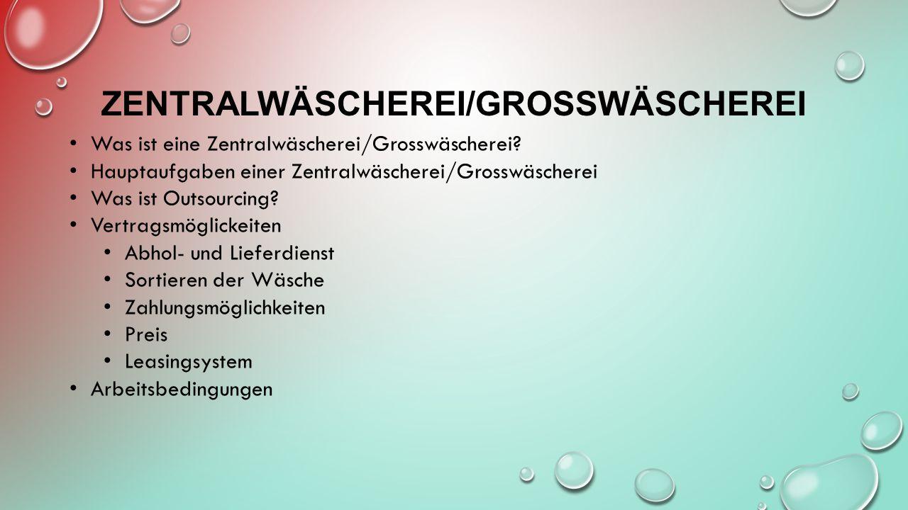 Zentralwäscherei/Grosswäscherei