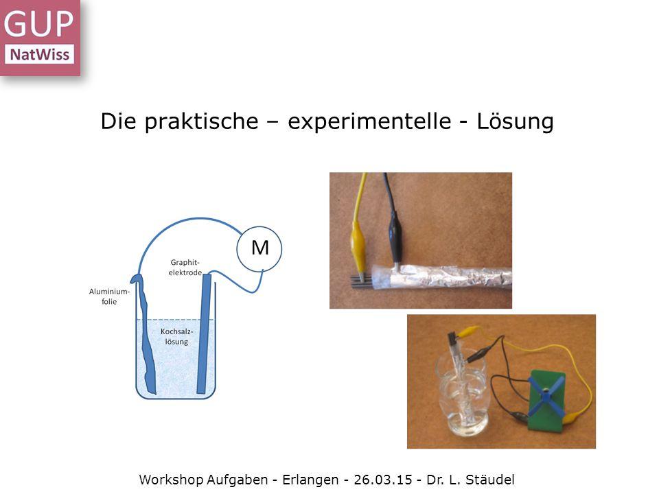 Die praktische – experimentelle - Lösung