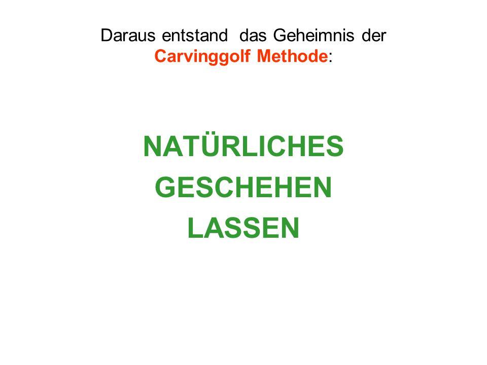 Daraus entstand das Geheimnis der Carvinggolf Methode: