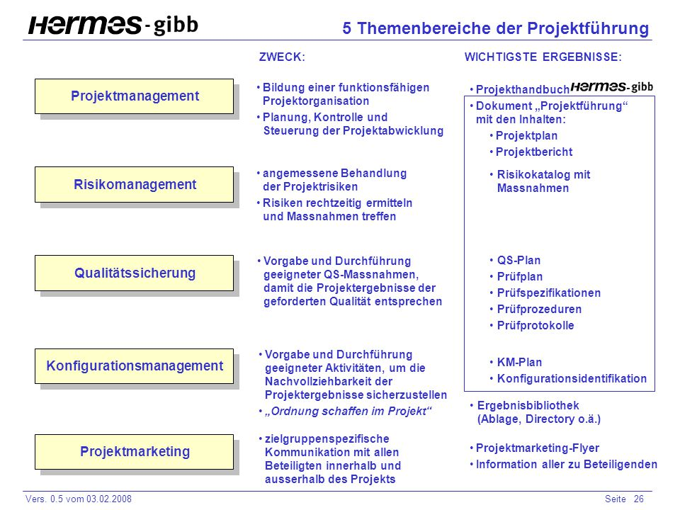 5 Themenbereiche der Projektführung