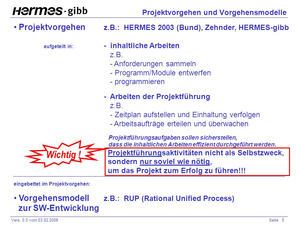 Projektvorgehen und Vorgehensmodelle