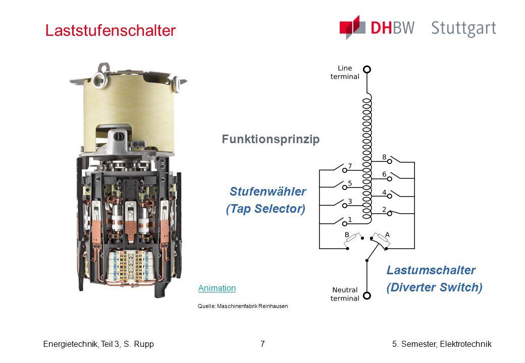 Laststufenschalter Funktionsprinzip Stufenwähler (Tap Selector)