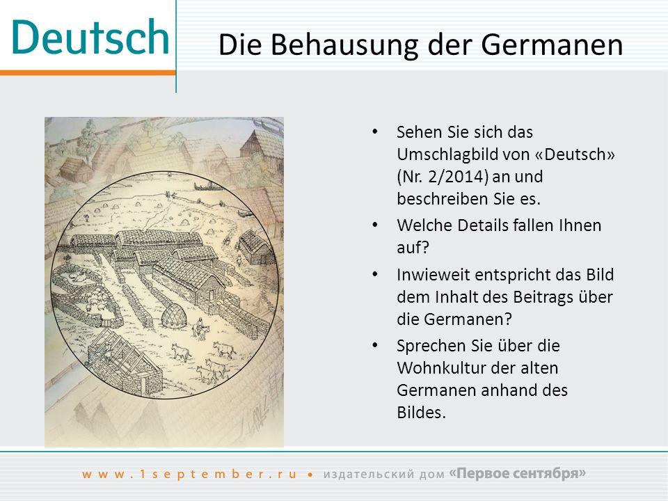 Die Behausung der Germanen
