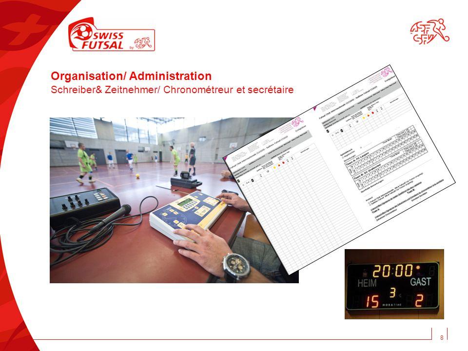 Organisation/ Administration Schreiber& Zeitnehmer/ Chronométreur et secrétaire