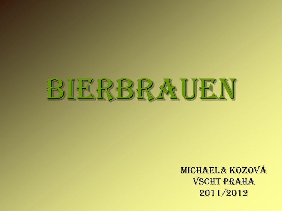 Michaela Kozová VSCHT PRAHA 2011/2012