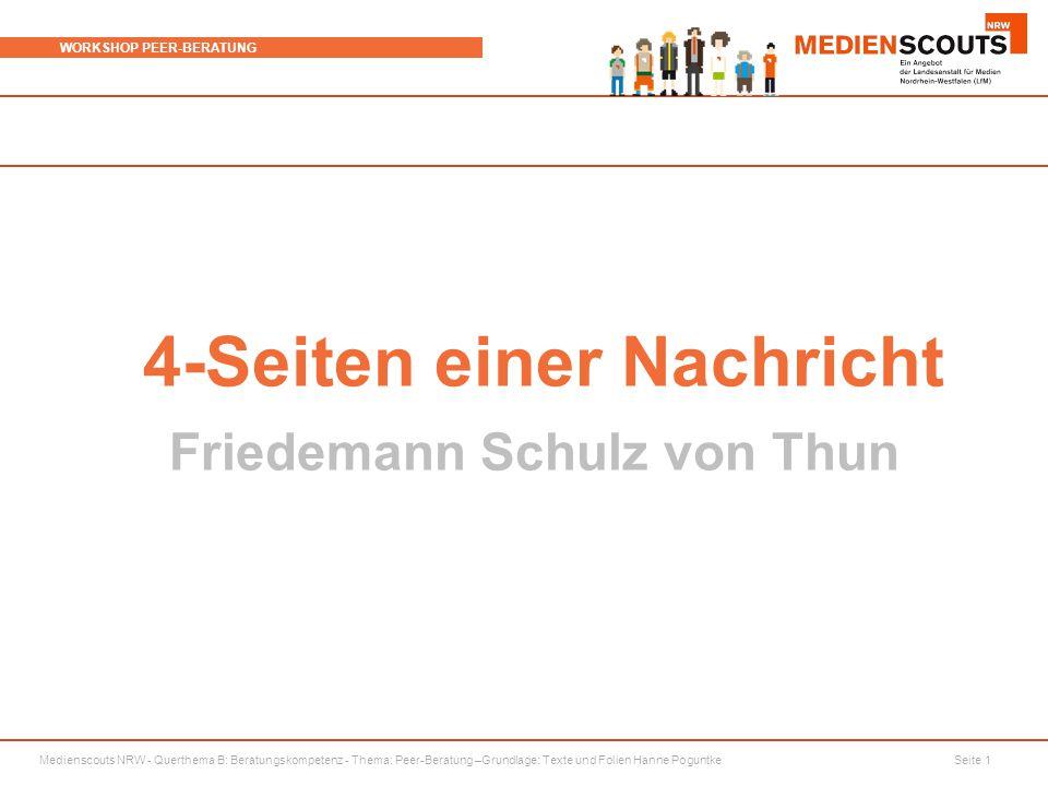 4-Seiten einer Nachricht Friedemann Schulz von Thun