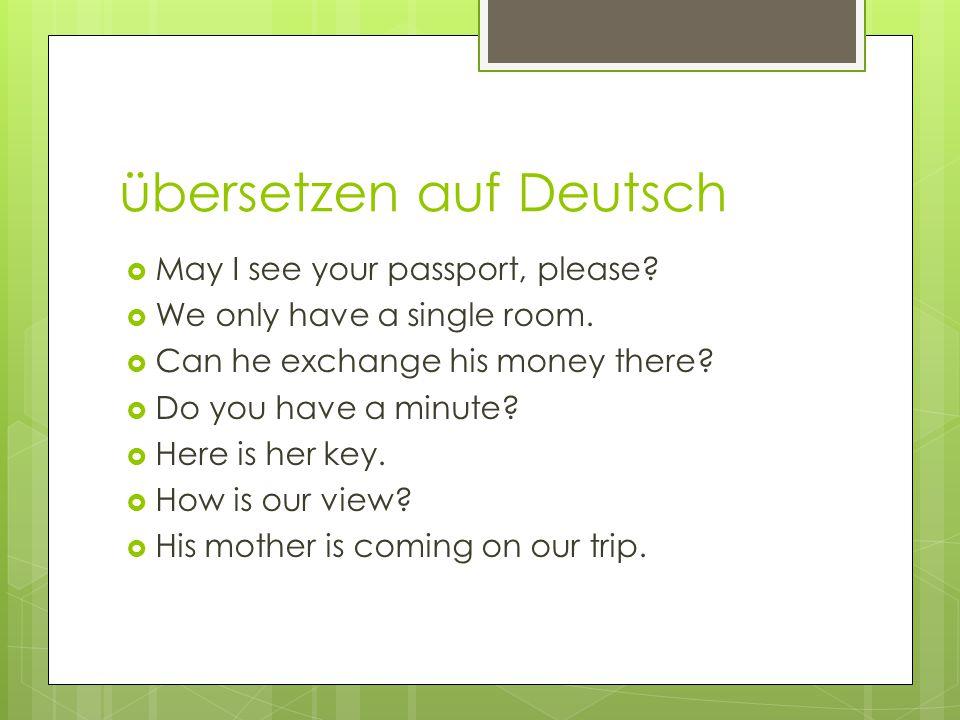 übersetzen auf Deutsch