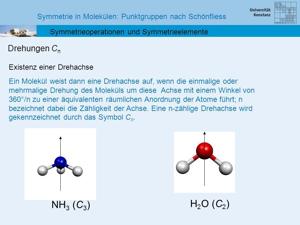 NH3 (C3) H2O (C2) Drehungen Cn