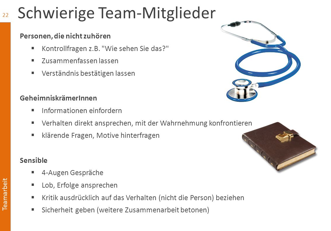 Schwierige Team-Mitglieder