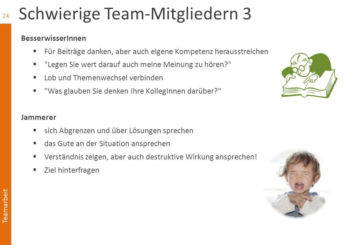 Schwierige Team-Mitgliedern 3
