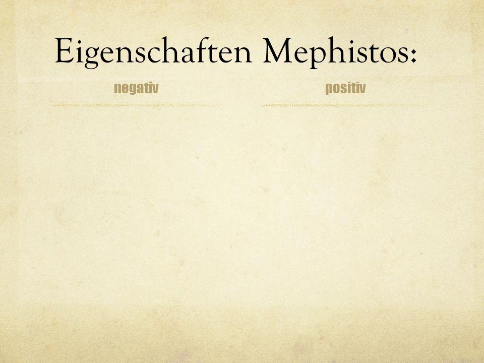 Eigenschaften Mephistos: