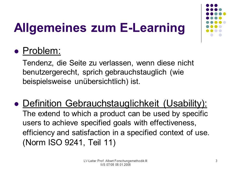 Allgemeines zum E-Learning