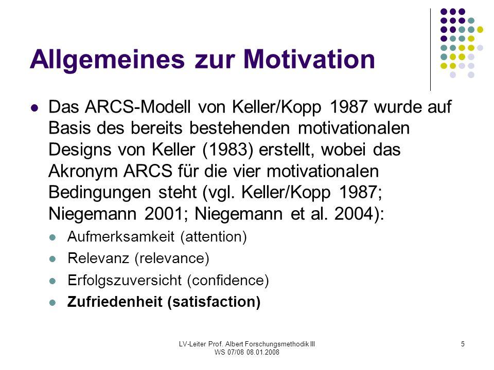 Allgemeines zur Motivation