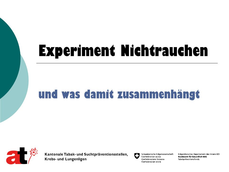 Experiment Nichtrauchen
